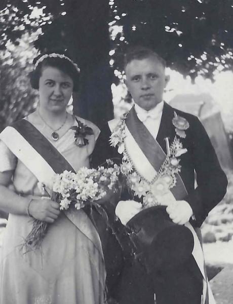 1934 Königspaar Willy Terhörst u. Hedwig Decker