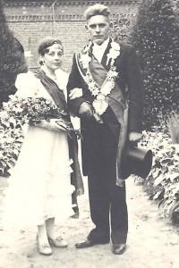 1937 Königspaar Heinrich Kleideiter, Maria Baumeister