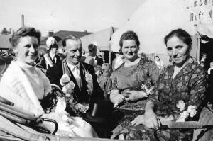 1963 v.l. Koenigin Hedwig Kleideiter, Koenig Josef Wernsing, Adelheid Janning, Anna Wernsing