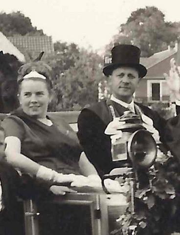 1964 Königskutsche Königin Guste Winkelhaus, Franz Uppenkamp, Jans Albers, Adolf Sundorf