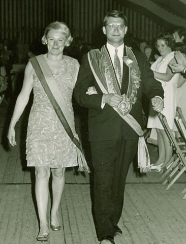 1969 Königspaar Karl Fischer und Lena Roßmöller