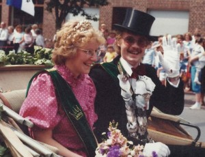 1983 Schützenfest Parade Mariele Specking und Karl Heinz Boll