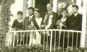 1997 Thronfoto Konrad Rudde Ruth Frank, Marianne Rudde, Bernhard Terwey, Ruth Terwey, Thomas Franke