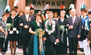 1998 Thron, Irmgard Bröker, Herbert Winkelhaus, Maria Fleige, Helmut Bröker, Antje Winkelhaus, Günther Fleige
