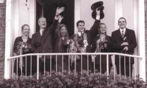 1999 Thron Tanja Hamm, Gerd Wilpert, Indra Averkamp, Frank Iking, Tina Homann, Stefan Schmeddes