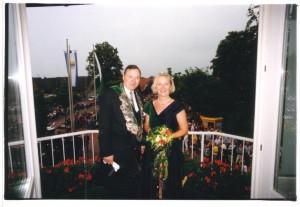 2000 Königspaar Bernd Droppelmann und Gerti Steens