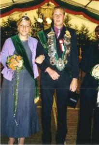 2002 Königspaar Bernd Wilpert und Christiane Albers