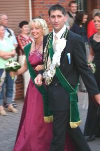 2005 erstes Jahr Königspaar Martin Sprey und Gaby Olthoff