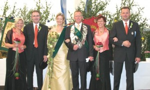 2007 Thron Angelika Specking, Bernhard Laukamp, Jutta Volmer, Gerhard Specking, Brigitte Laukamp, Thomas Volmer