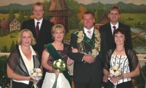 2008 Thron Petra Mönsters, Thomas Schaaf, Monika Berenbrügge, Ralf Mönsters, Berthold Barenbrügge, Hanne Schaaf