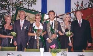 2009 Thron Maria Börst, Andreas Fleige, Königin Gaby Fleige, König Stefan Heeks, Gertrud Heeks, Franz-Josef Börst