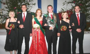 2010 Thron Katharina Winkelhaus, Mike Melchers, Christina Melchers, André Tenspolde, Julia Kuhl, Matthias Bröker