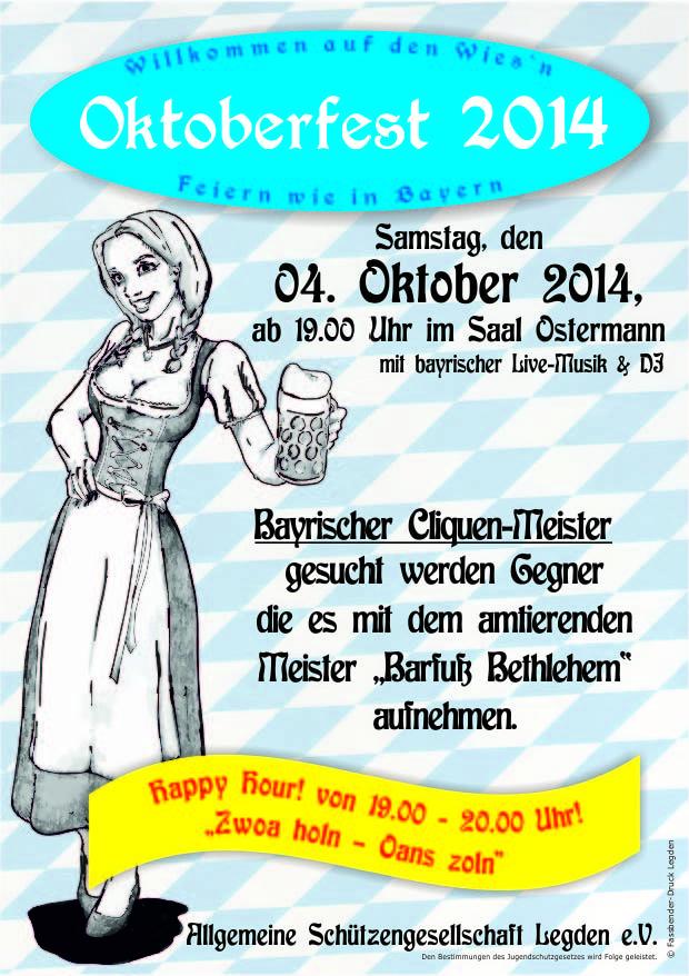 Plakat Oktoberfest14